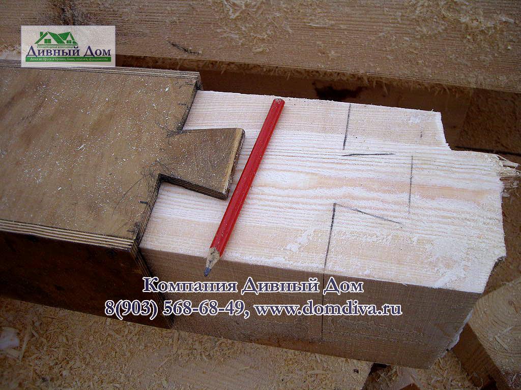 Как сделать шаблоны при строительстве дома из бруса